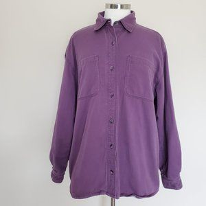 Cabela's Purple Women's Flannel Lined Shirt Large